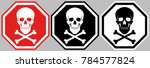 sign of the skull and bones. an ... | Shutterstock .eps vector #784577824