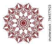 abstract flower design mandala. ... | Shutterstock .eps vector #784577923