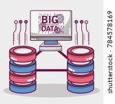 technology data center server... | Shutterstock .eps vector #784578169
