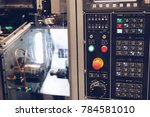 digitally controlled modern cnc ... | Shutterstock . vector #784581010