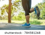 young fitness woman legs... | Shutterstock . vector #784581268