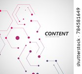 line and dots connect vector.... | Shutterstock .eps vector #784581649