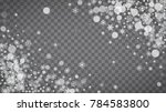 isolated snowflakes on...   Shutterstock .eps vector #784583800