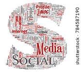 vector conceptual social media... | Shutterstock .eps vector #784587190