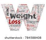 vector conceptual weight loss... | Shutterstock .eps vector #784588408