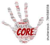 vector conceptual core values...   Shutterstock .eps vector #784588558