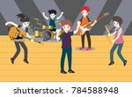 musicians and musical... | Shutterstock .eps vector #784588948