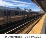 new york subway train passing...   Shutterstock . vector #784591228