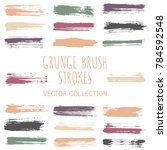 grunge paint brush stroke... | Shutterstock .eps vector #784592548