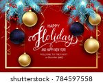 holidays greeting card for... | Shutterstock .eps vector #784597558