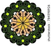 beautiful  pattern for design... | Shutterstock .eps vector #784598926