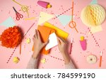 colorful pink background with... | Shutterstock . vector #784599190