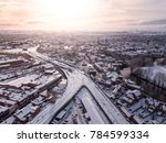 aerial view of snow compromised ...   Shutterstock . vector #784599334