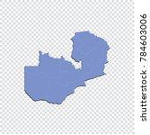 zambia map   high detailed blue ... | Shutterstock .eps vector #784603006