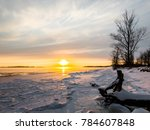 sunset over st. lawrence river... | Shutterstock . vector #784607848
