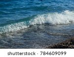 close view of sea water wave... | Shutterstock . vector #784609099