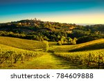 san gimignano medieval town... | Shutterstock . vector #784609888