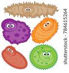 cartoon virus character ... | Shutterstock . vector #784615264