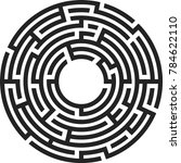 black vector isolated maze | Shutterstock .eps vector #784622110