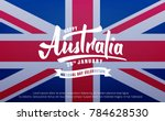 australia day. banner for... | Shutterstock .eps vector #784628530