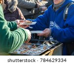 warm food for the poor and... | Shutterstock . vector #784629334