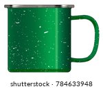 a typical green coloured tin... | Shutterstock .eps vector #784633948