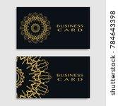 business card templates set... | Shutterstock .eps vector #784643398