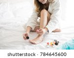 closeup of a beautiful woman... | Shutterstock . vector #784645600