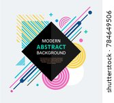 abstract circle geometric... | Shutterstock .eps vector #784649506