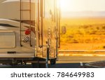 recreation vehicle rv trip.... | Shutterstock . vector #784649983