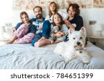 mature couple relaxed at home... | Shutterstock . vector #784651399