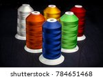 sewing threads multicolored on... | Shutterstock . vector #784651468