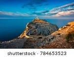 lighthouse of cap de formentor... | Shutterstock . vector #784653523
