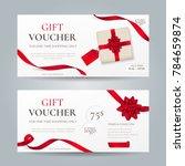 vector set of elegant gift... | Shutterstock .eps vector #784659874
