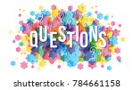 questions word concept | Shutterstock .eps vector #784661158