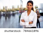serious career motivated... | Shutterstock . vector #784661896