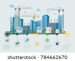 flat design vector info graphic ... | Shutterstock .eps vector #784662670