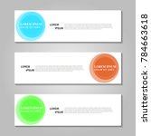 vector abstract design banner... | Shutterstock .eps vector #784663618