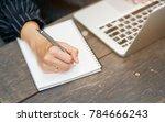 close up businesswoman hand...   Shutterstock . vector #784666243