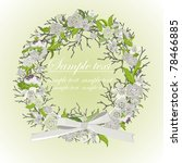 card with a wreath about white... | Shutterstock .eps vector #78466885