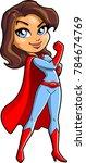 super mom mothers day cartoon...   Shutterstock .eps vector #784674769