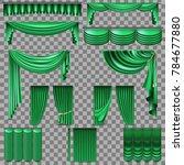 luxury set of green velvet silk ... | Shutterstock .eps vector #784677880