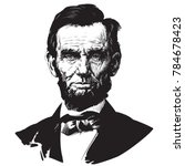 Abraham Lincoln. Hand Drawn...