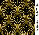 seamless golden art deco... | Shutterstock .eps vector #784678546