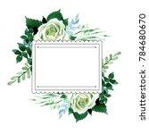 bouquet flower frame in a... | Shutterstock . vector #784680670