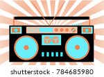 colorful  bright  retro audio... | Shutterstock .eps vector #784685980