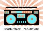 colorful  bright  retro audio... | Shutterstock .eps vector #784685980