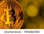 bitcoin gold coins with... | Shutterstock . vector #784686583