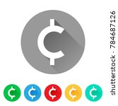 set of cent sign icons ... | Shutterstock .eps vector #784687126