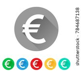 eur  set of euro sign icons ... | Shutterstock .eps vector #784687138